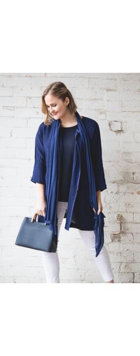 Masai Clothing Jarmis Boucle Jacket Medieval Blue