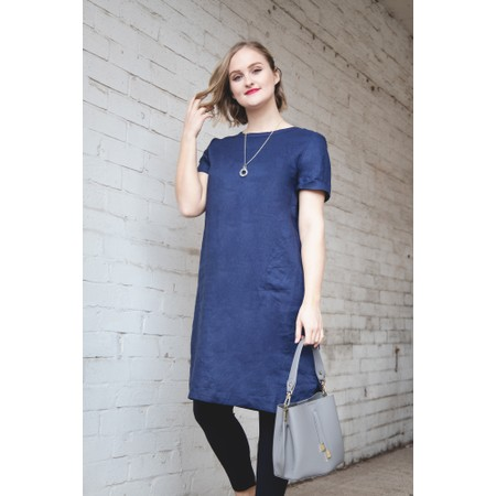Masai Clothing Nalani Linen Dress - Blue