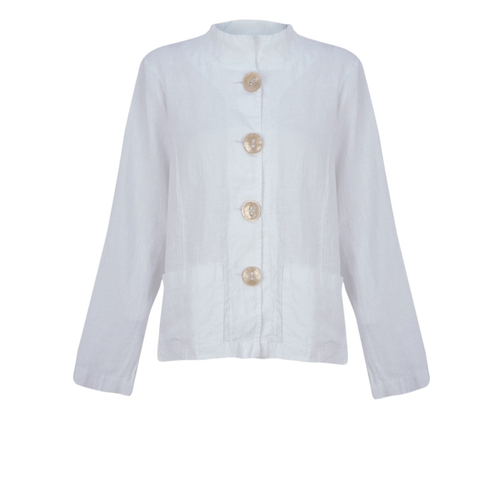 Thing Button Front 2 Pocket Jacket White
