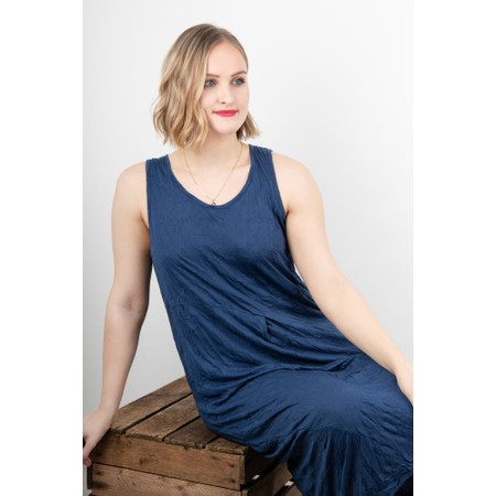 Thing Sleeveless Easyfit Crinkle Dress - Blue