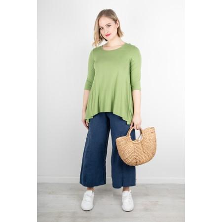 Thing A-Shape Three Quarter Length Sleeve Top - Green