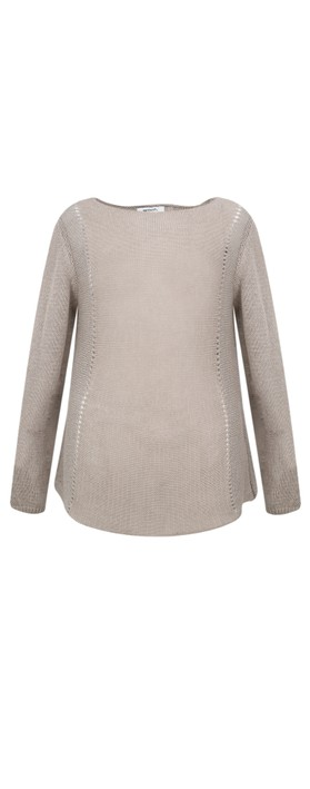 Sandwich Clothing Cotton Sparkle Knit Jumper Silver Lining
