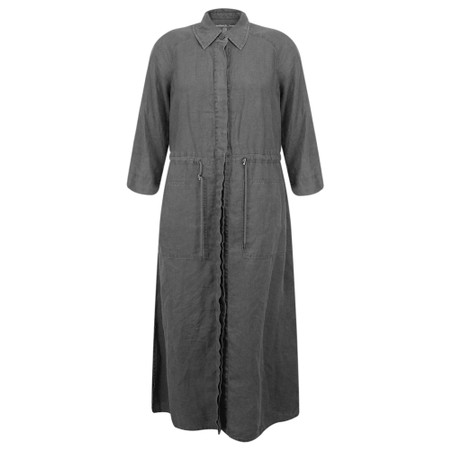 Sandwich Clothing Linen Shirt Dress - Grey