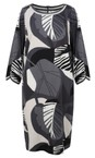 Sandwich Clothing Antracite Abstract Leaf Print Dress
