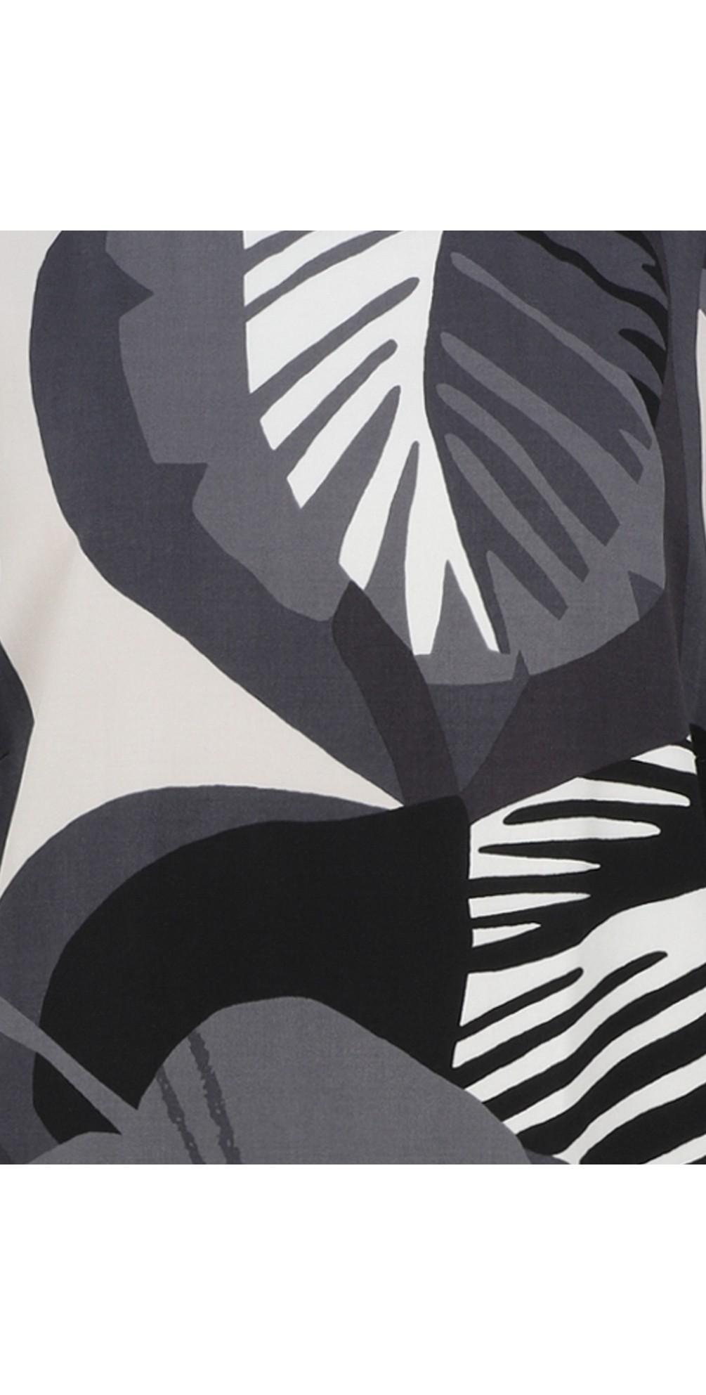 Abstract Leaf Print Dress main image
