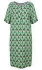 Sandwich Clothing Washed Sage Chevron Leaf Print Dress