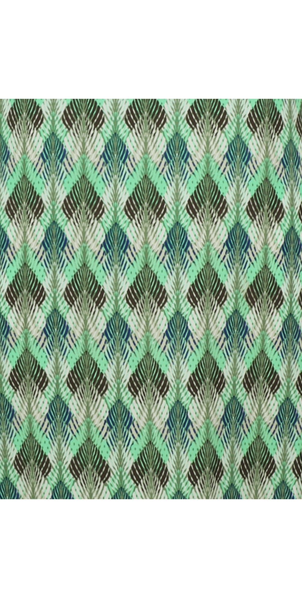 Chevron Leaf Print Dress main image