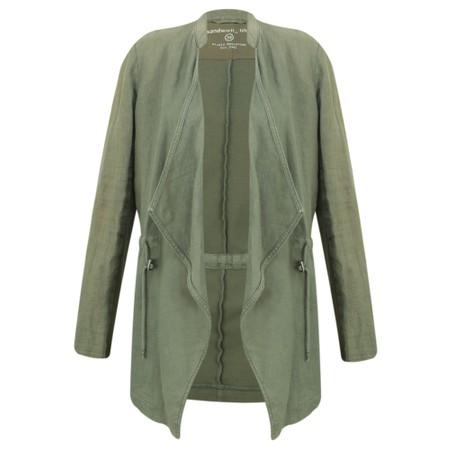 Sandwich Clothing Drape Front Linen Blend Jacket - Green