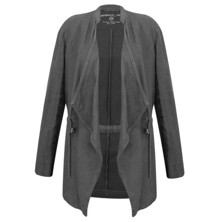Sandwich Clothing Drape Front Linen Blend Jacket - Grey