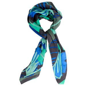 Sandwich Clothing Bold Palm Leaf Silk Scarf