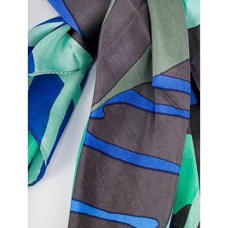 Sandwich Clothing Bold Palm Leaf Silk Scarf - Green