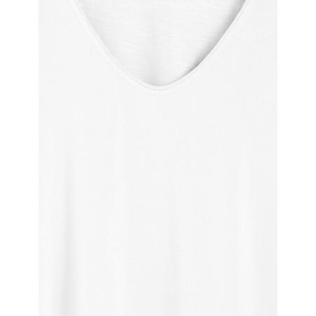 Sandwich Clothing Short Sleeve V-neck Top - White
