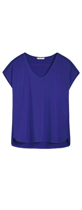 Sandwich Clothing Short Sleeve V-neck Top Signal Blue