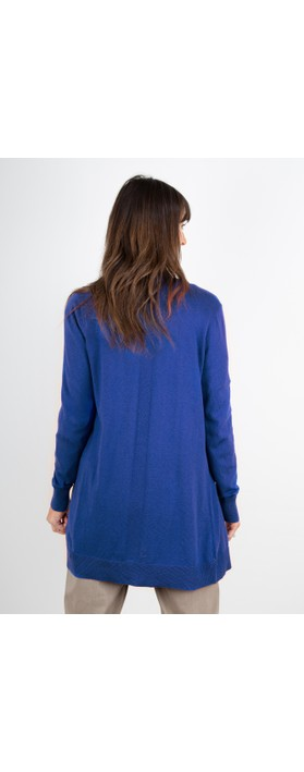 Sandwich Clothing Essential Open Front  Cardigan Signal Blue