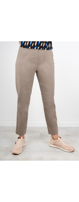 Robell  Bella 09 Ankle Length 7/8 Cuff Trouser Taupe 17