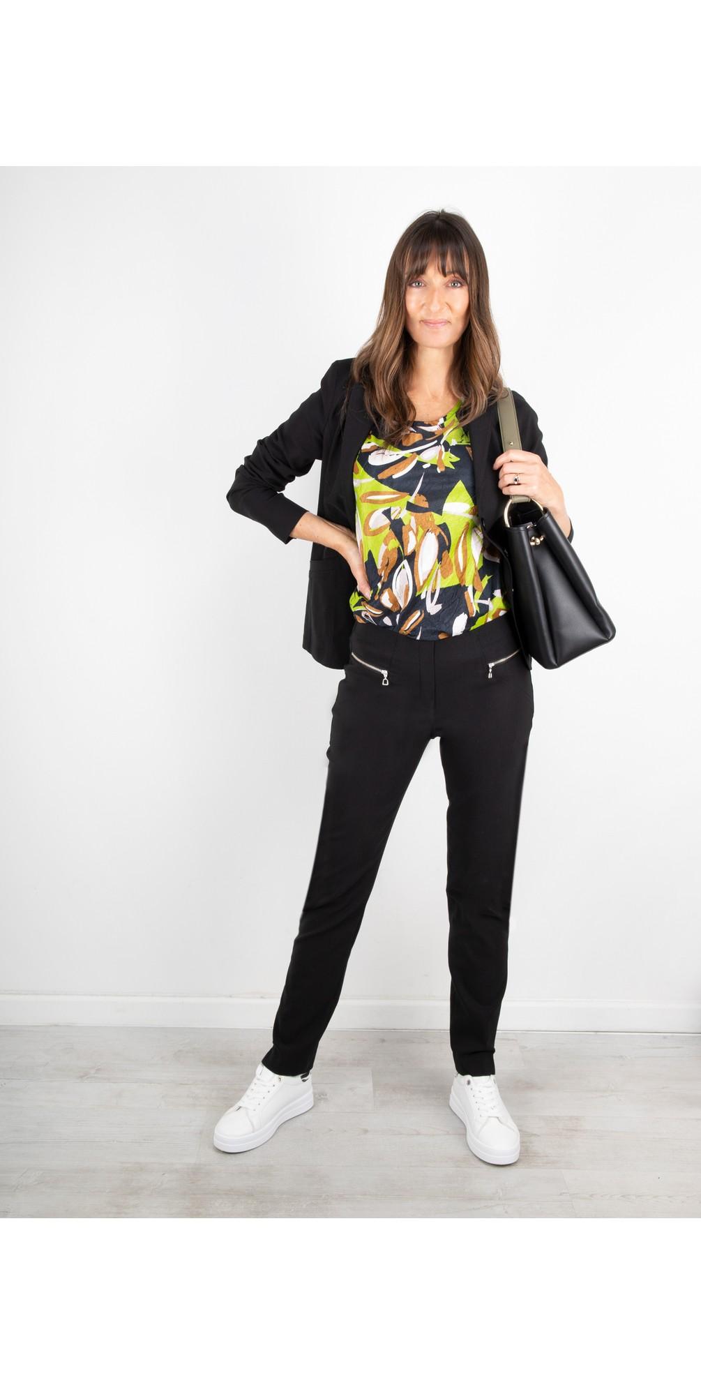 Mimi Black 75cm Zip Pocket Trouser main image