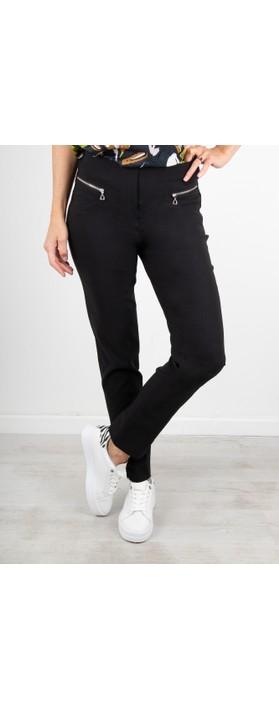 Robell Mimi Black 75cm Zip Pocket Trouser Black 90