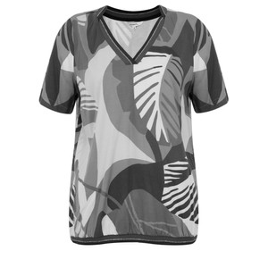 Sandwich Clothing Abstract Palm Print Top