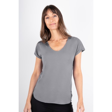 Sandwich Clothing Short Sleeve V-neck Top - Blue