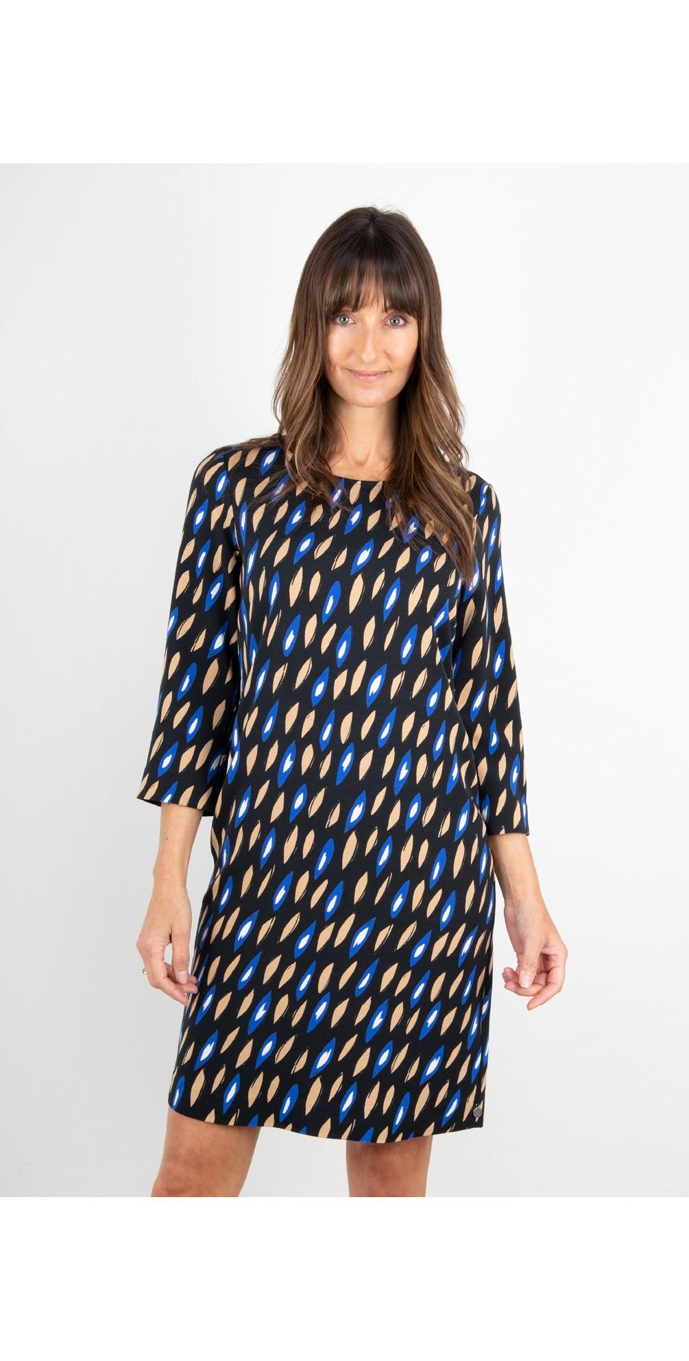 Abstract Geometric Print Dress main image