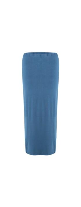 BY BASICS Sibi Bamboo Skirt Denim Blue 73