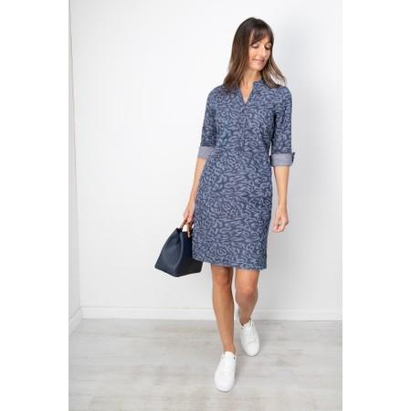 Sandwich Clothing Animal Print Denim Dress - Blue