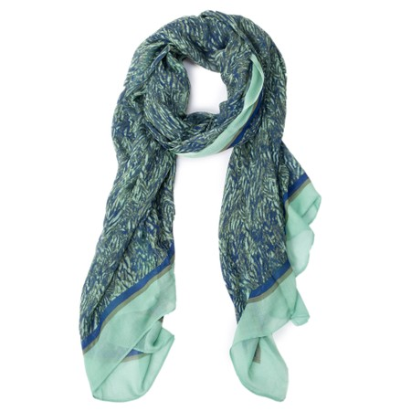 Sandwich Clothing Abstract Print Scarf - Blue