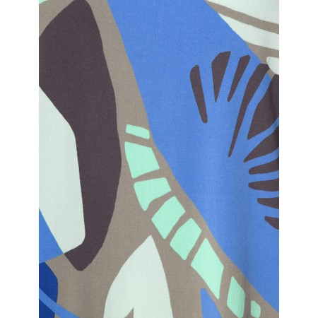 Sandwich Clothing Abstract Leaf Print Dress - Green