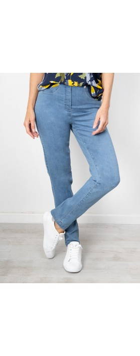 Robell  Bella Slim Fit Full Length Jean Light Denim