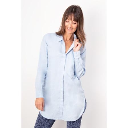 Sandwich Clothing Long-line Linen Shirt - Blue