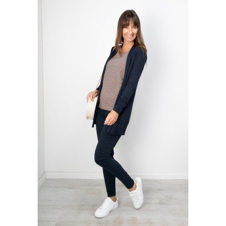 Sandwich Clothing Essential Open Front  Cardigan - Blue