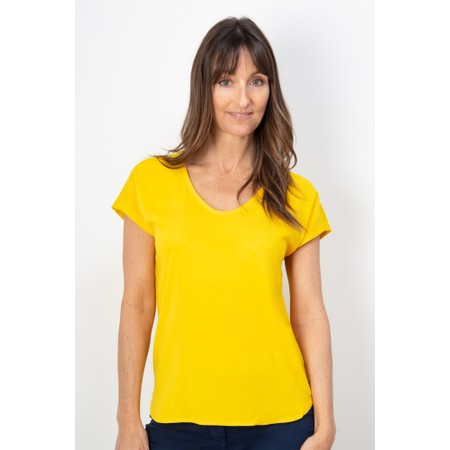 Sandwich Clothing Short Sleeve V-neck Top - Yellow