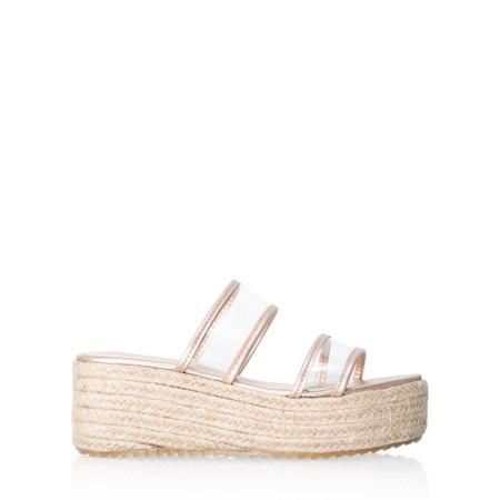 Livshu Positano Wedge Sandal - Gold