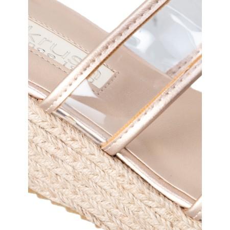 Livshu Positano Wedge Sandal - Gold