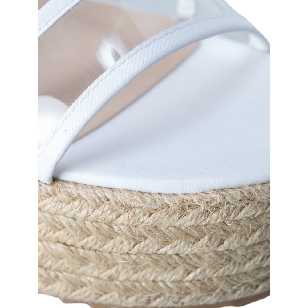 Livshu Positano Wedge Sandal White