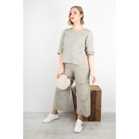Thing Easy Parallel Linen Trouser - Beige