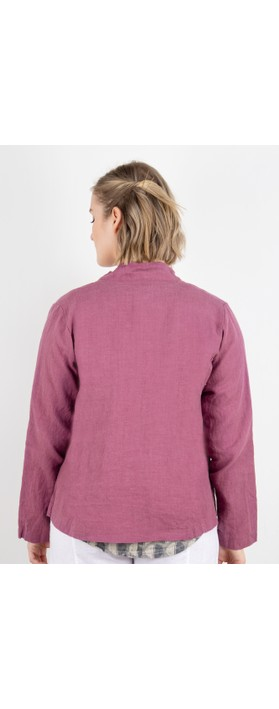 Thing Button Front 2 Pocket Jacket Damson