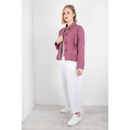 Thing Easy Parallel Linen Trouser - White