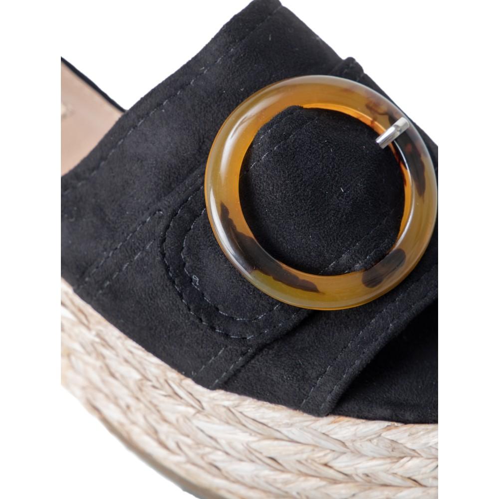 Livshu Amalfi Wedge Sandal  Black
