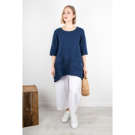 Thing Three Quarter Sleeve Two Pocket Tunic - Blue
