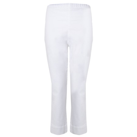 Sahara Stretch Cotton Crop Trouser - White