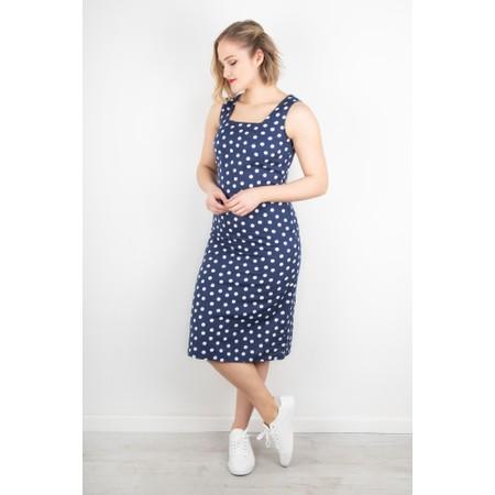 Adini Roxy Spot Linen Dress - Blue