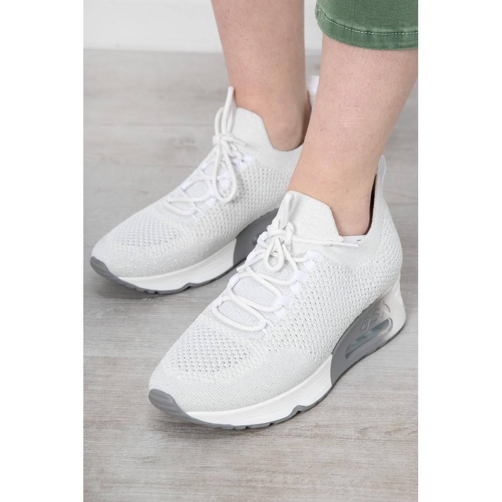 Ash Lunatic Bis Trainer Shoe White / Lurex