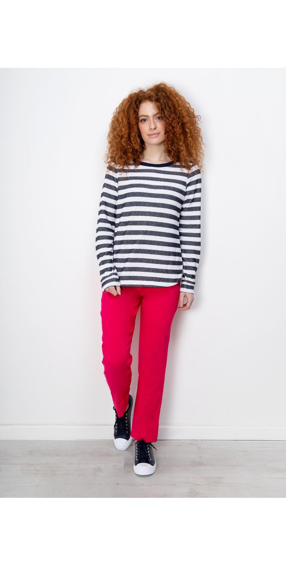Bella 09 Raspberry Ankle Length Crop Cuff Trouser main image