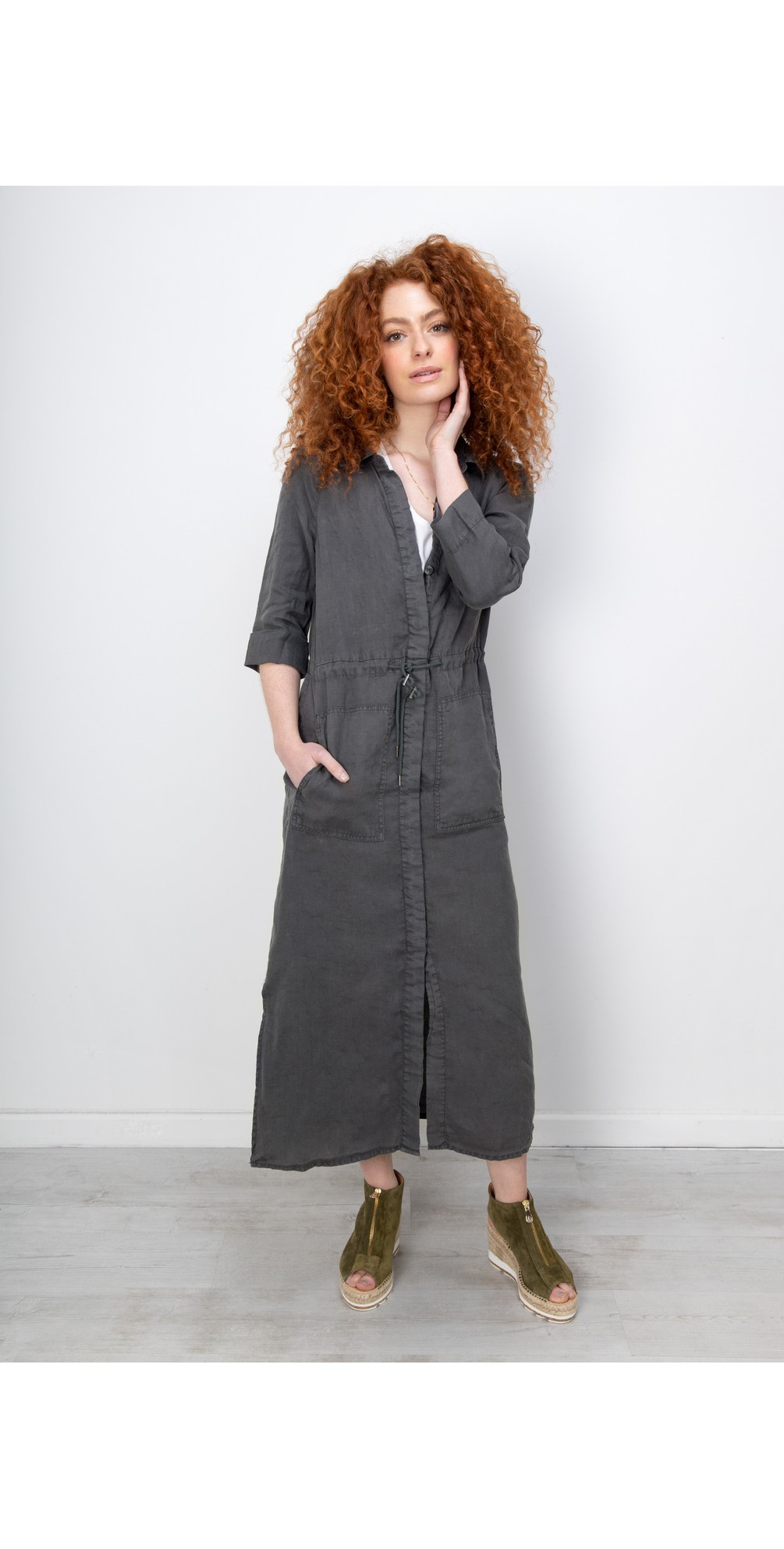 Linen Shirt Dress main image
