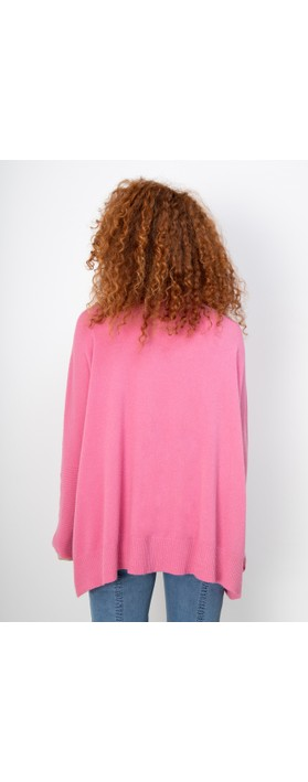 Fenella  Nina Supersoft Roll Neck Jumper  Garden Pink