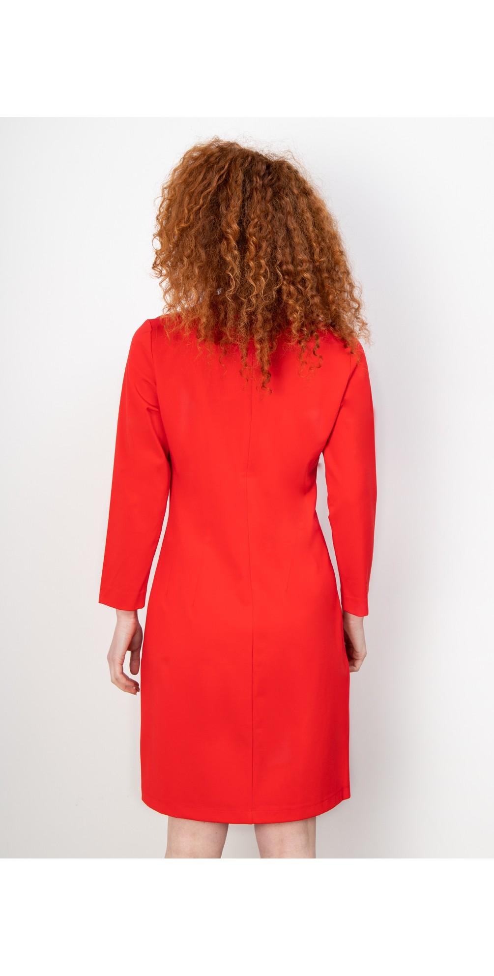 Fitted V-Neck Dress main image