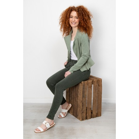 Sandwich Clothing French Terry Biker Jacket - Green