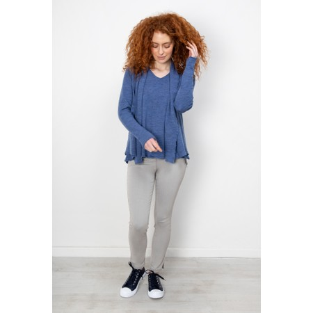 BY BASICS Kristi Blusbar Merino Top - Blue