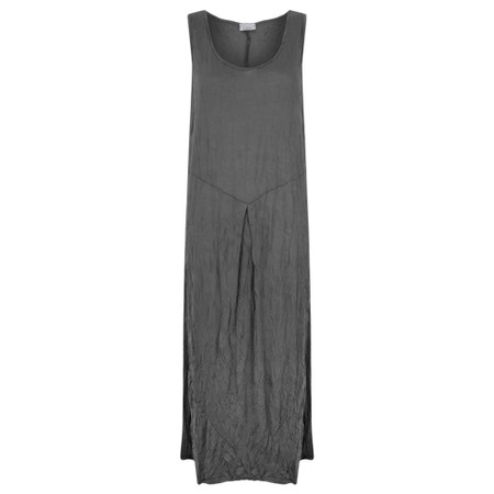 Thing Sleeveless Easyfit Crinkle Dress - Grey